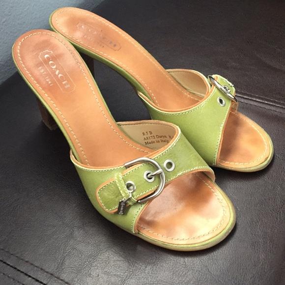 447d288b26bd Coach Shoes - Coach apple green heels